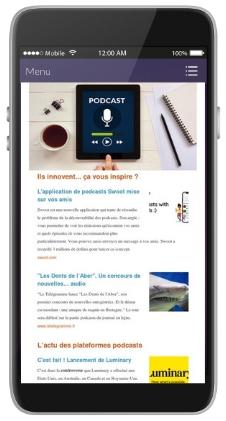 Podcast et téléphone